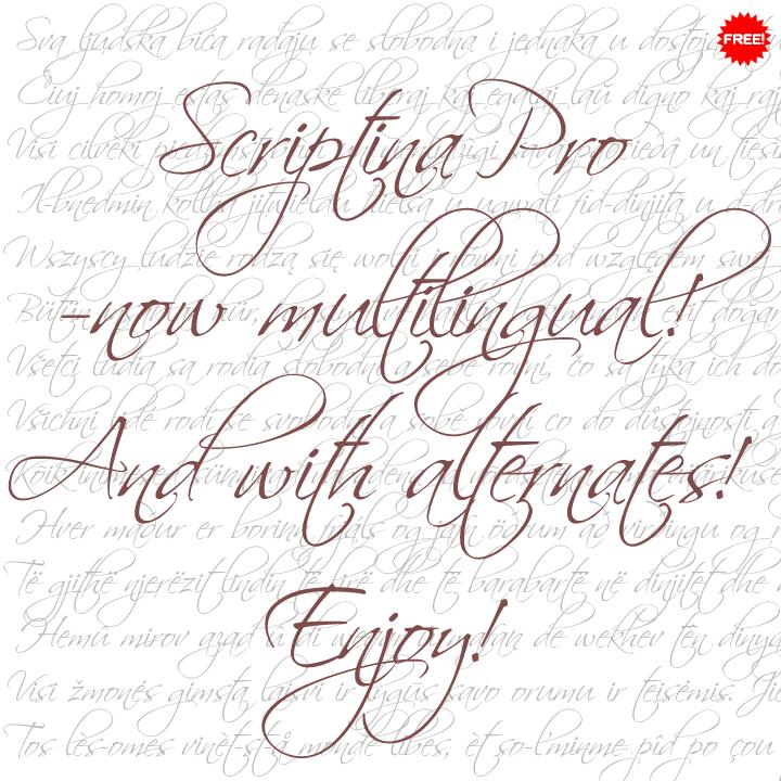 Scriptina font download fonts4free.