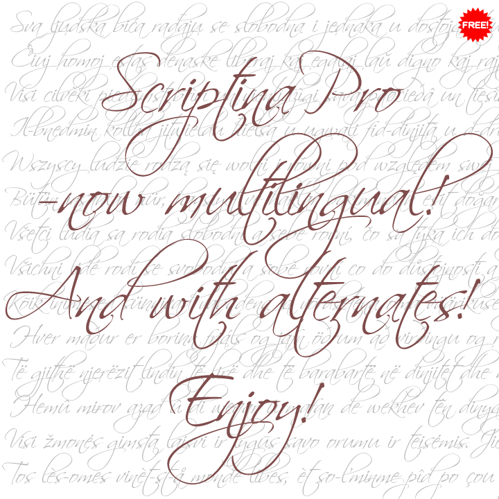 ecriture scriptina