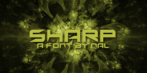 Sharp Font | dafont com