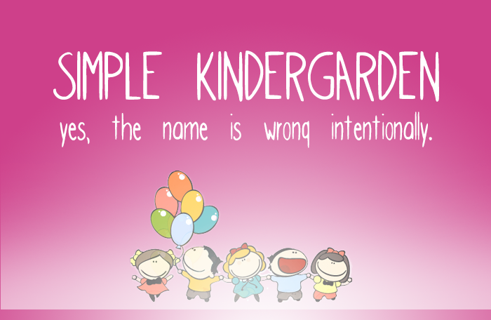 Simple kindergarden font for Kinder gardine