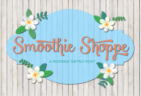 tipografías para logos gratis Smoothie Shoppe