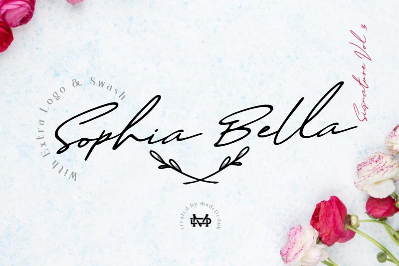 Sophia Bella Font | dafont com