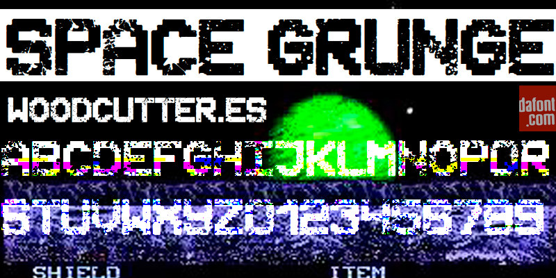 Space Grunge Font