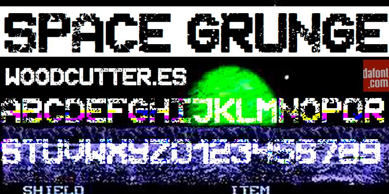 Space Grunge Font