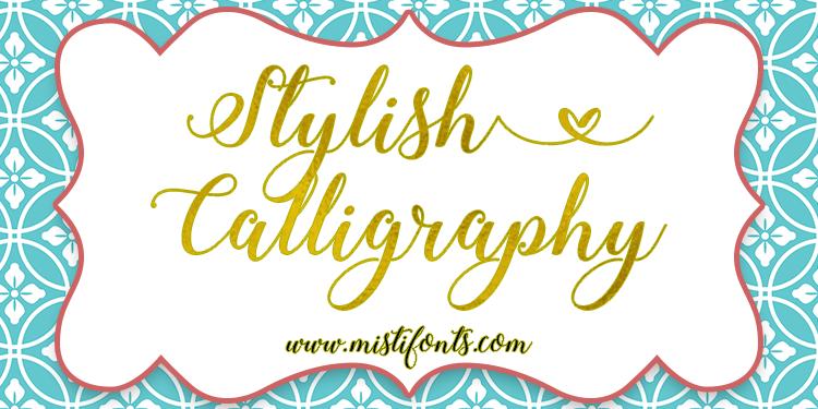 Stylish Calligraphy Font | dafont.com