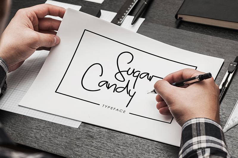 tipografía Sugar Candy para logos elegantes