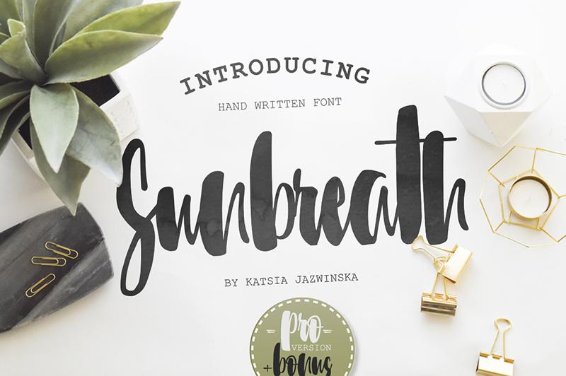 Sunbreath font Cute font generator free