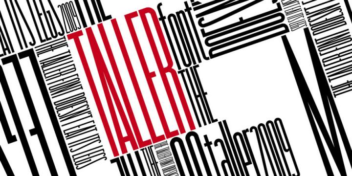 Taller Font | dafont com