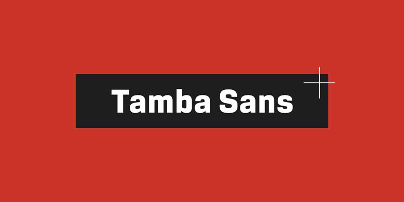 Tamba Sans Font