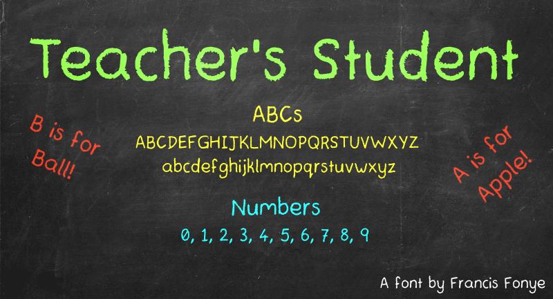 Teachers Student Font | dafont com
