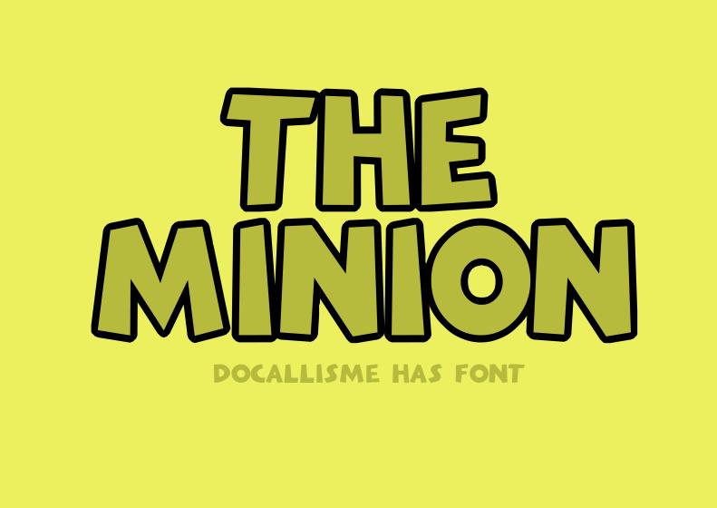 The Minion Font | dafont com