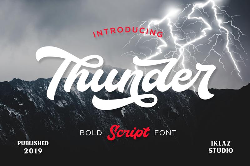 Thunder Font | dafont com