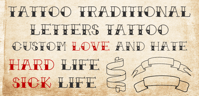 Traditional Tattoo Font Dafont Com This is a type of open type font maker (.otf) and the bundle comprises of all the letterings in both uppercase and lowercase forms, numbers and punctuation marks as well. traditional tattoo font dafont com