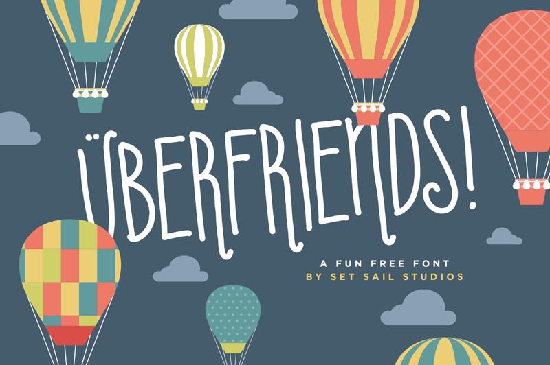 Uberfriends Font | dafont com