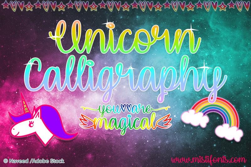 Unicorn Calligraphy Font Dafont Com