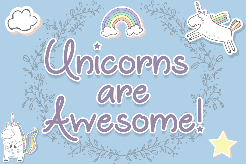 Unicorns are awesome font dafont
