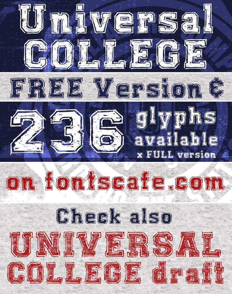Universal College Font | dafont com