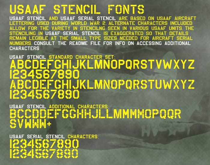 USAAF Stencil Font | dafont com