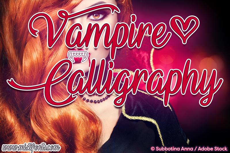 Vampire calligraphy font dafont.com