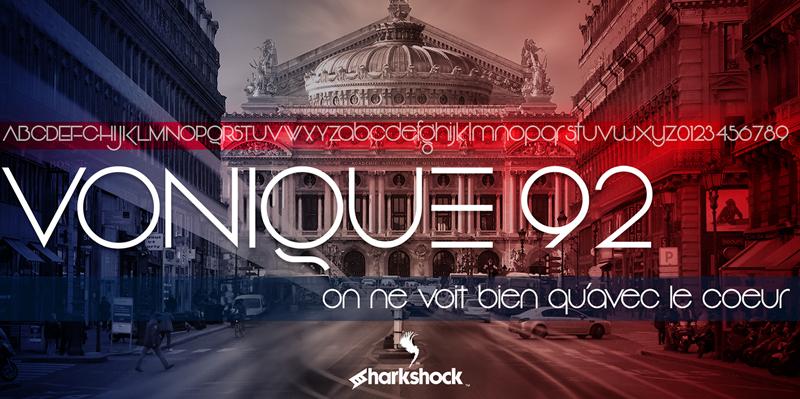 Vonique 92 Font | dafont com