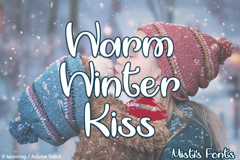 Een Warme Winter : Warm winter kiss font dafont