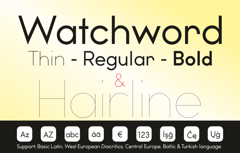 Watchword Font | dafont com