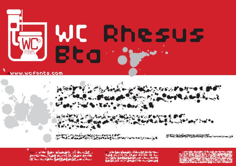wc rhesus b bta font