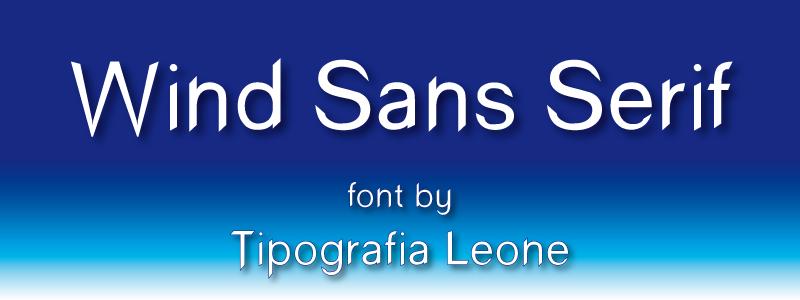 Sans serif type fonts