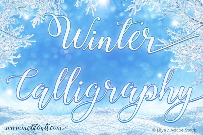 Winter calligraphy font dafont