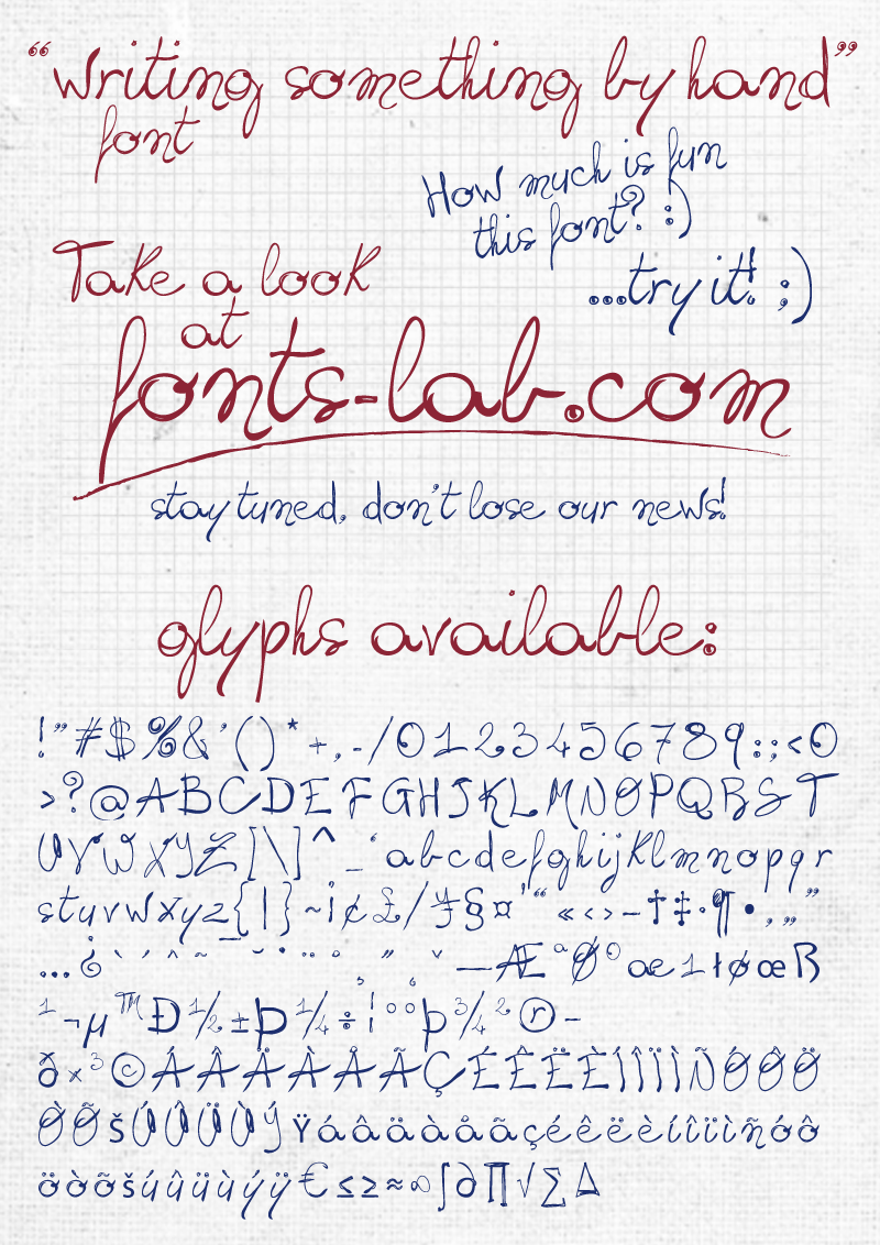 Writing Something By Hand Font