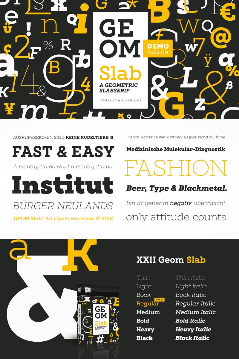 XXII Geom Slab Font | dafont com