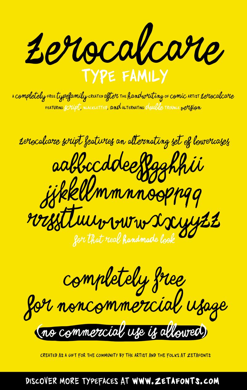 Zerocalcare Script Custom Preview Fonts